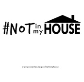#NOT in my House Drawstring Backpack